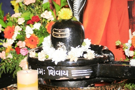 Shiv Ling at the altar