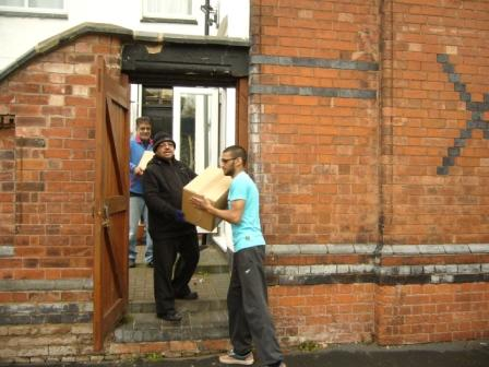Loading the food parcels 1